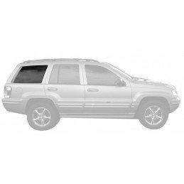 Vitre de custode arrière droite (côté passager) - OCCASION - TEINTE CLAIRE - Jeep Grand Cherokee WJ 1999-2004 // 55135816AE-OCC