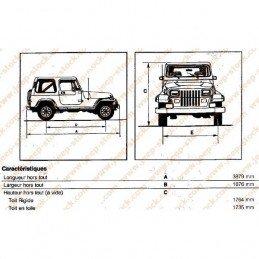 Lames de suspension Jeep Wrangler YJ 1987-1995, AVANT Droite ou Gauche - Paquet de 4x lames HD RENFORCÉES // 52003448