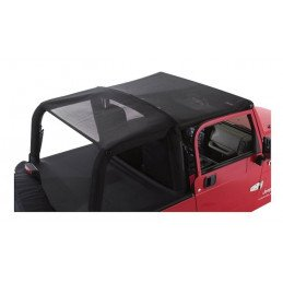 Bâche Bikini convertible 2 - 4 places - Noire / filet Jeep Wrangler TJ 1997-2006 // CB20011