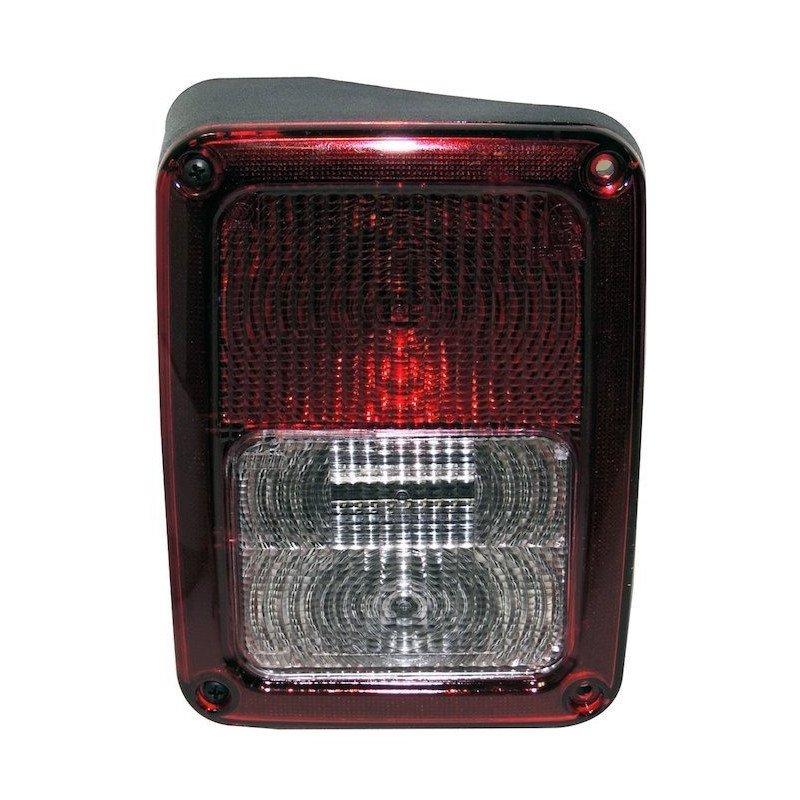Feu arrière GAUCHE, Europe, complet avec cabochon ampoules et faisceau - Jeep Wrangler JK 2007-2018 // 55078147AC