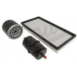 Kit 3x Filtres - Jeep Cherokee XJ 2.5L, 4.0L Essence 91-96 - filtre à air, filtre à huile en Pouces, filtre à Essence // MFK8