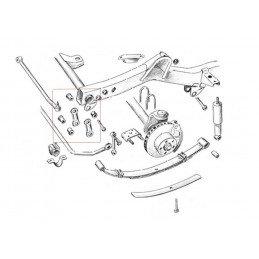 Caoutchouc de Silent-bloc de jumelle pour lame de suspension Jeep Wrangler YJ 1987-1995 // 52002552