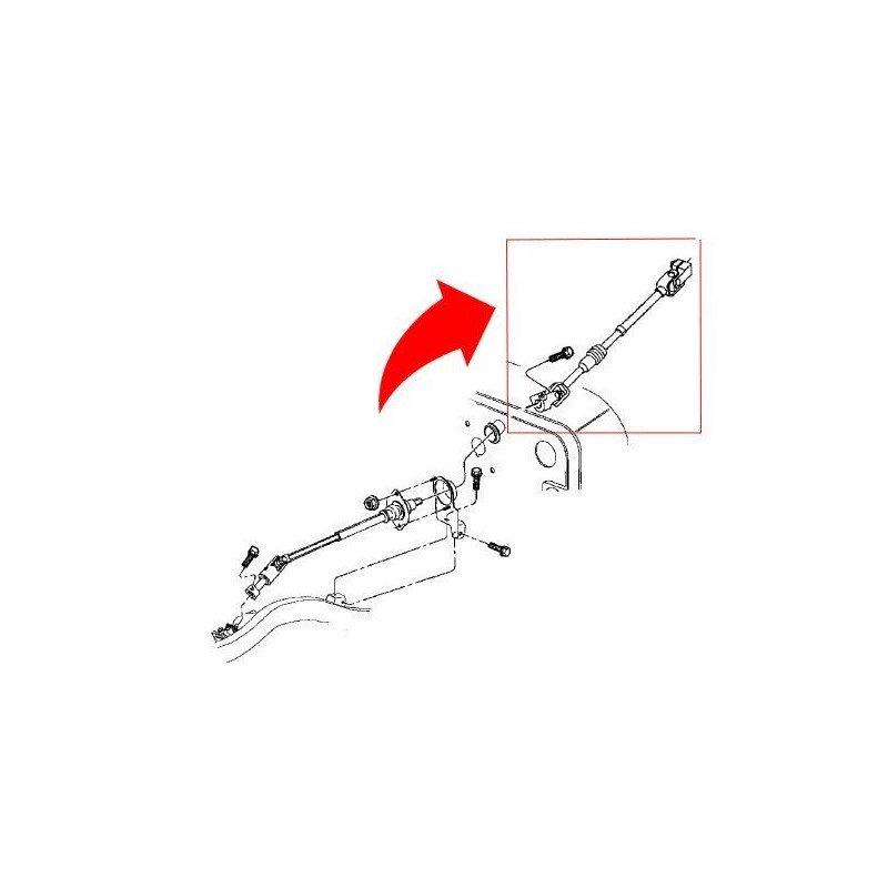 Arbre de direction côté boitier de direction (arbre supérieur)- Jeep Wrangler TJ 97-00 // 5102531AA