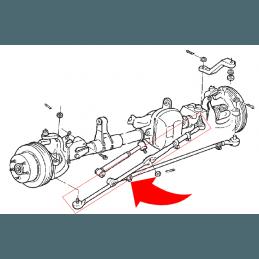 Kit barre de direction COMPLETE - rotules + manchon + acc. - Du boitier vers roue droite - Jeep Wrangler TJ 97-06 // 52087887K