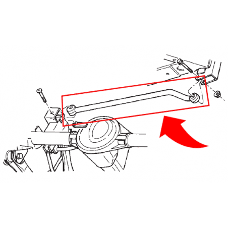 Barre Panhard Arrière Performance - Pour Jeep rehaussées de 50 à 125 mm - Jeep Wrangler TJ 97-06 // RT21052