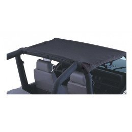 Bâche Bikini 2 places avant Black Denim - Jeep Wrangler YJ 1992-1995 // BT30015
