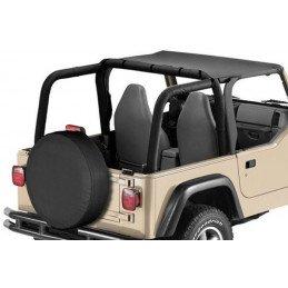 Bâche Bikini 2 places - Noire Jeep Wrangler TJ 1997-2006 // BT40015