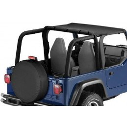 Bâche Bikini 2 places - Black Diamond Jeep Wrangler TJ 1997-2006 // BT40035