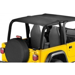 Bâche Bikini convertible 2 - 4 places Jeep Wrangler TJ 1997-2006 - Black Denim // CB20015