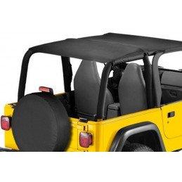 Bâche Bikini safari Jeep Wrangler TJ, Noire jean