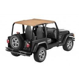 Bâche Bikini safari Jeep Wrangler TJ, Marron clair