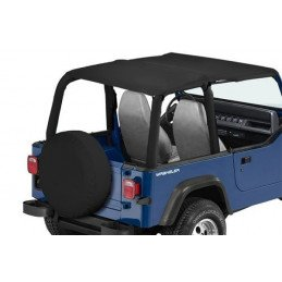 Bâche Bikini convertible 2 - 4 places - Black Denim Jeep Wrangler YJ 1992-1995 // CB10015
