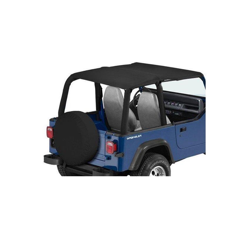 Bâche Bikini Jeep Wrangler YJ 1992-1995, Convertible 2 - 4 places, Noir jean