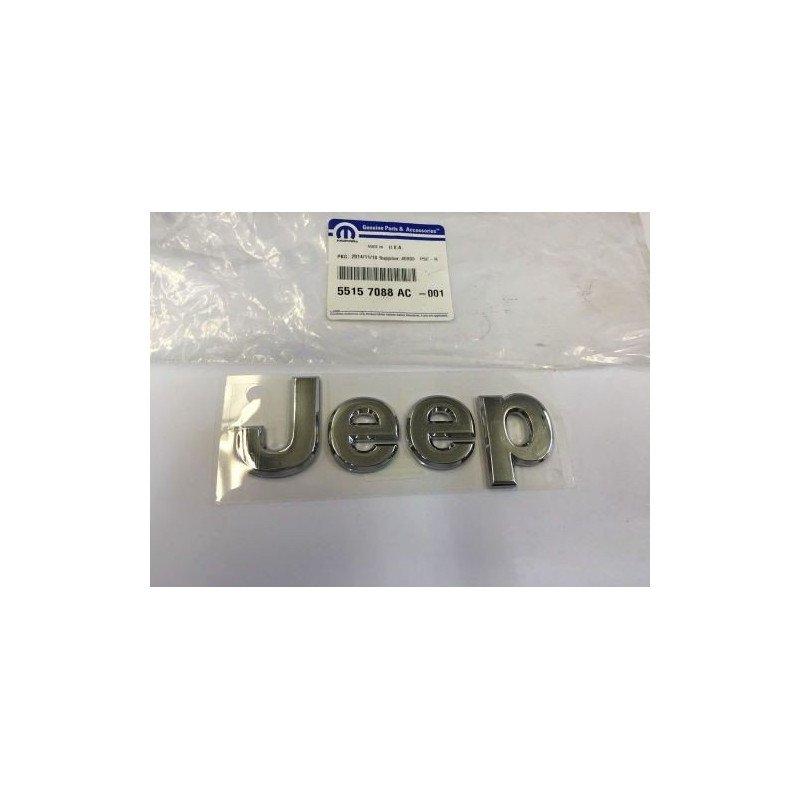 Logo capot origine JEEP - autocollant, Chrome 2005-2013 // 55157088AC