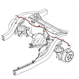 Pack 2x Tuyaux de frein rigides sur pont AR pour Jeep Wrangler YJ & TJ 89 au 09/03/00, Cherokee XJ 84-01