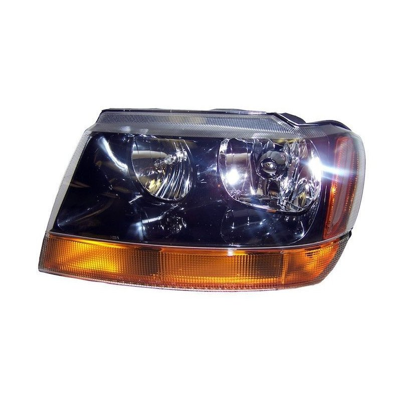 Optique de phare gauche Laredo - Jeep Grand-Cherokee WJ 1999-2004 // 55155129AB