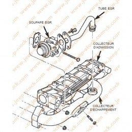 Joint sortie vanne EGR (entre vanne et collecteur) Jeep Cherokee XJ et Grand-Cherokee ZJ 2.5 VM 1995-2001 // 5017196AA