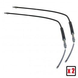 Pack de 2x câbles de frein à main (gauche + droit) pour frein à tambours - Jeep Wrangler TJ 97-06 -- 52008362x2