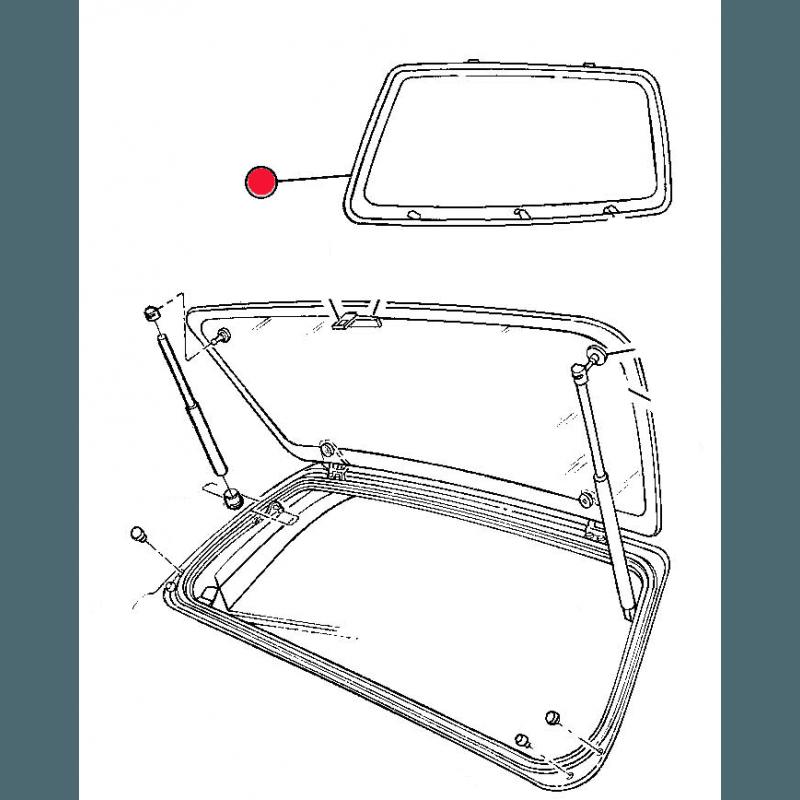 vitre de hayon teint e verte d givrante jeep grand cherokee zj du 4 janvier 1995 1996. Black Bedroom Furniture Sets. Home Design Ideas