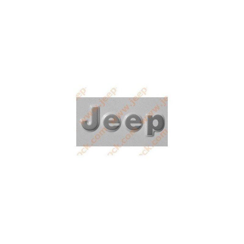 Logo latéral, aile arrière - JEEP Wrangler YJ et CJ 1976-1995 pièce d'origine dispo - Gris foncé anthracite // 5AS15KA9