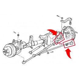 Rotule de barre d'accouplement, pas à gauche - Jeep Wrangler YJ 91-95 / TJ 97-06 / Cherokee XJ 91-01 / ZJ 4.0L 93-98 // 52005741