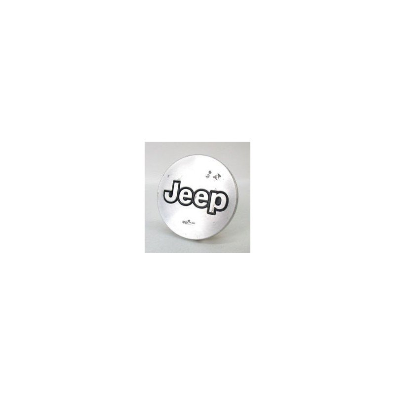 Cache-moyeu, argenté, pour jantes alu nid d'abeille - OCCASION - Jeep cherokee XJ 1987-1996 // 52003759