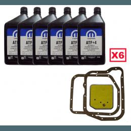 Pack Filtre à huile de boite automatique + joint + 6L ATF+4 - Jeep Grand Cherokee ZJ 93-98 / Wrangler YJ TJ 87-02 // J8127652-V2