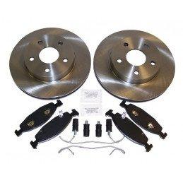 Disques freins avant + plaquettes + accessoires montage TEVES / Jeep Grand Cherokee WJ 1999-2002 // 52098672KE-V2