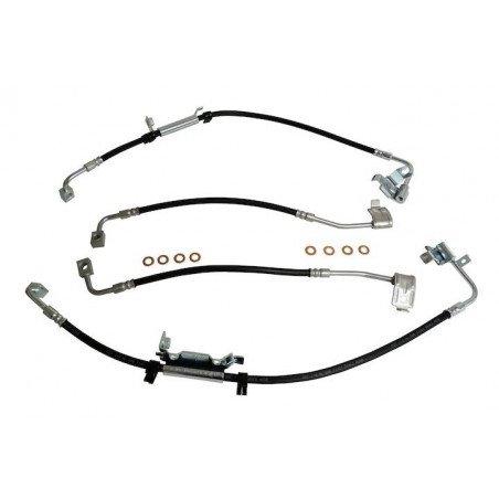 Flexibles de freins avant et arrière x4 - Jeep Wrangler JK 2011-2018 - 2 portes ou Unlimited 4 portes // BHK2-V2