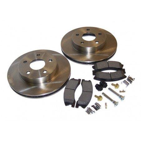 Disques + plaquettes + accessoires freins avant montage AKEBONO / Jeep Grand Cherokee WJ 1999-2004 // 52098672KL-V2