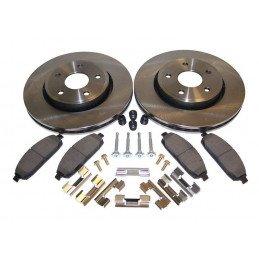 Disques + plaquettes + accessoires freins avant Jeep Grand Cherokee WK 2005-2010 sauf SRT8/ Commander XK 2006-10 // 52089269K-V2