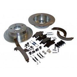Disques performance rainurés et percés + plaquettes + mâchoires + accessoires / Jeep Grand Cherokee WJ 1999-2004 // RT31034-V2
