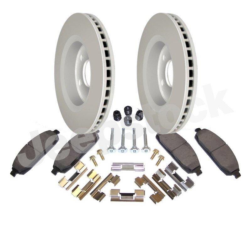 Disques + plaquettes + accessoires performance freins avant Jeep Grand Cherokee WK 2005-2010 sauf SRT8/ Commander XK 2006-2010