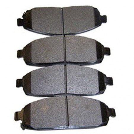 Jeu Plaquettes (x4) + Ressorts frein avant semi-métalliques - Jeep Grand-Cherokee WK 05-10 / Commander XK 06-10 sauf SRT8