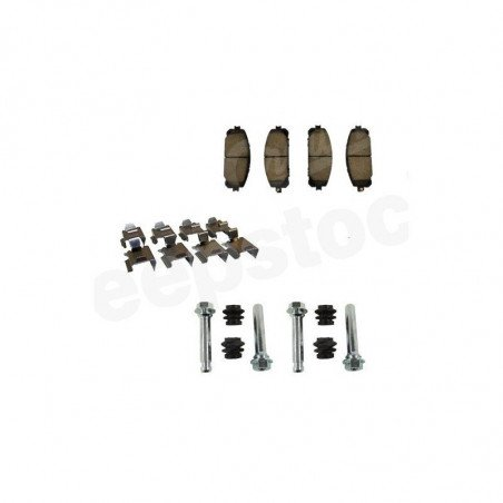 Jeu Plaquettes (x4) + accessoires frein avant compatible disques frein arrière 320 mm / Jeep Cherokee KL 2014-2016