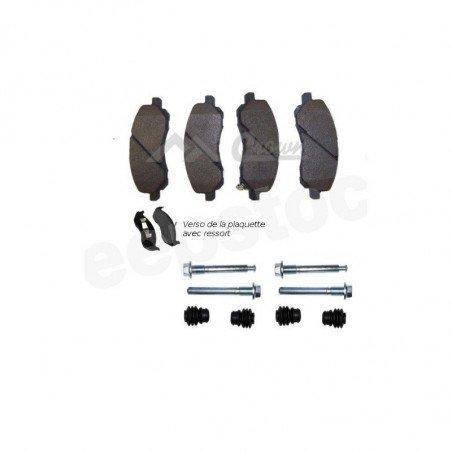 Jeu Plaquettes (x4) + accessoires de frein avant semi-métalliques - Jeep Compass/Patriot MK 2007-2017 // 5191217AA+5191272AA-V2