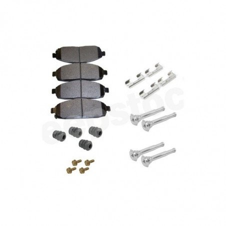 Jeu Plaquettes (x4) + ressorts + acc. frein avant semi-métalliques - Jeep Grand-Cherokee WK 05-10 / Commander XK 06-10 sauf SRT8