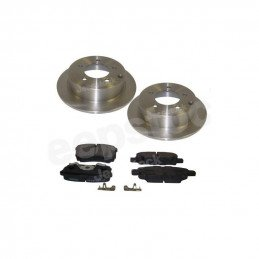 Disques de frein arrière plein 302 mm + plaquettes / Jeep Compass MK 2007-2018 // 5105515AA+5191271AB-V2
