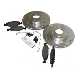 Disques + plaquettes + accessoires freins avant performance - montage TEVES / Jeep Grand Cherokee WJ 1999-2002 // RT31035-V2