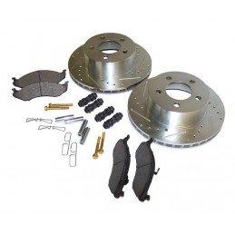 Kit Frein AV Perf - Disques + plaquettes + accessoires - Jeep Wrangler YJ & TJ 90-99 /Cherokee XJ 90-99 /Grand Cherokee ZJ 93-98