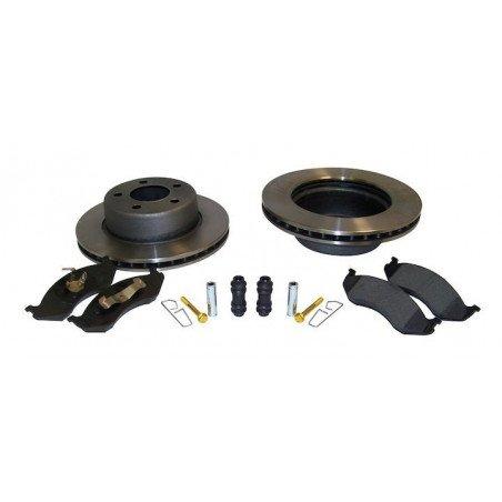 Disques frein avant Jeep Wrangler TJ 97-99 avec plaquettes, guides + accessoires