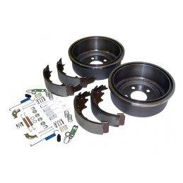 Kit freins AR 9 pouces / 230 mm - Tambours + mâchoires + accessoires -Jeep Wrangler TJ 00-06 / Cherokee XJ 00-01//52005350KL-V2