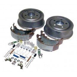 Kit de freins arrière 9 pouces - Tambours + mâchoires + acc. / Jeep Wrangler YJ & TJ 97-00 / Cherokee XJ 90-00 // 52005350KE-V2