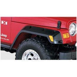 Extension d'ailes Jeep Wrangler TJ 96-06 - Bushwacker Avant + Arrière - 12 cm, Noir (4 pièces) // 10917.07