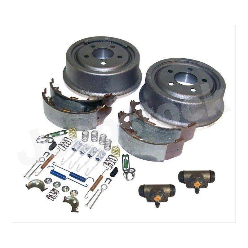 Kit Freins AR 9 pouces / 230 mm - Tambours + Mâchoires + Cylindres + Accessoires - Jeep Wrangler TJ 00-06 / Cherokee XJ 00-01