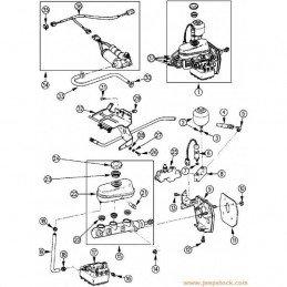 Kit modification freins Électriques en freins pneumatique Jeep Cherokee XJ 1990-1991 // KIT-MODIF-FREIN-ELEC-V2