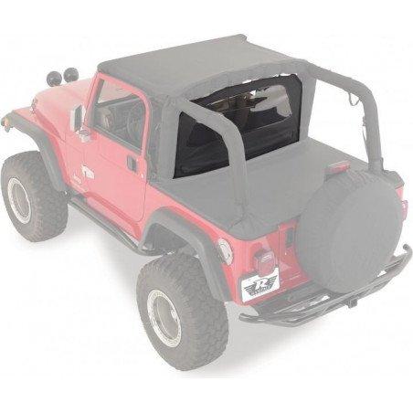 Coupe-vent Jeep Wrangler de 1976 à 2006, Noir jean