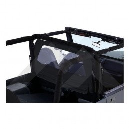 Coupe-vent / windbreaker - Black Denim- Jeep Wrangler CJ-YJ-TJ 1976-2006// WB10015