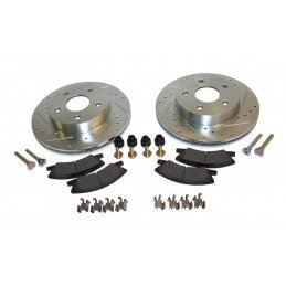 Disques + plaquettes + accessoires de freins avant Performance - montage AKEBONO / Jeep Grand Cherokee WJ 1999-2004 //RT31036-V2