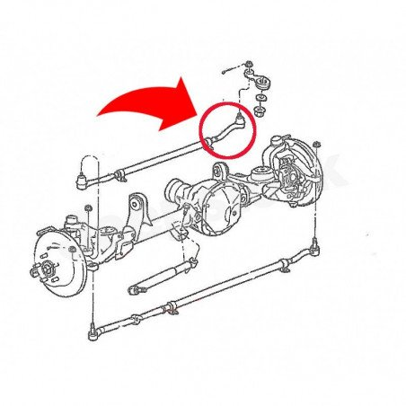 Rotule de boitier de direction pour Barre de direction - Jeep Wrangler JK 07-16 // 52060049AE